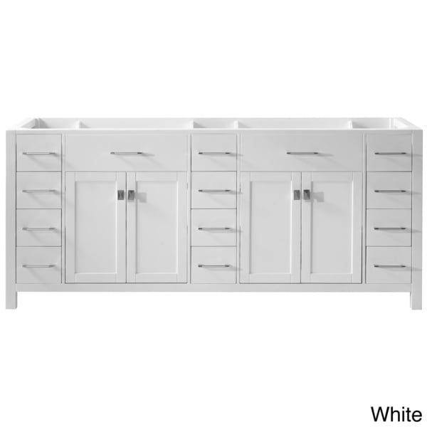 Caroline parkway 78 inch double sink bathroom vanity cabinet overstock shopping great deals for 78 double sink bathroom vanity
