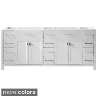 Caroline Parkway 78-inch Double Sink Bathroom Vanity Cabinet