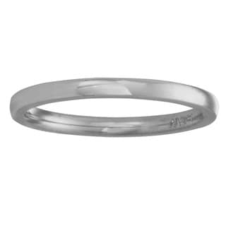 Platinum Men's Rounded 1.5-mm Comfort-fit Wedding Band