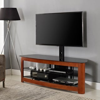 60 in. Cherry TV Stand with Mount
