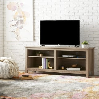 58-inch Ash Grey Reclaimed Wood TV Stand