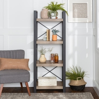 62-inch Urban Blend Ash Grey Media Tower