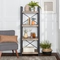 58- inch Urban Blend Ash Grey Media Tower