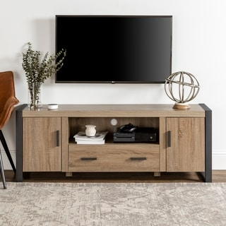 60-inch Urban Blend Wood TV Stand