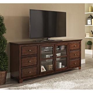 70 in. Paradigm Rustic Brown Wood TV Stand