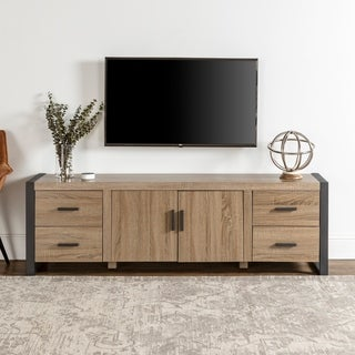 70-inch Urban Blend Ash Grey Wood TV Stand