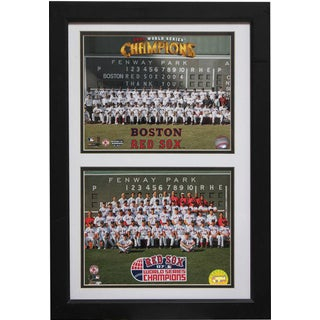 Boston Red Sox Champions 12 x 18 Double Frame