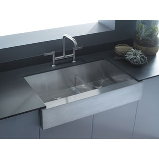 KOHLER K-3945-NA Vault Undercounter Offset Smart Divide Stainless Steel Sink