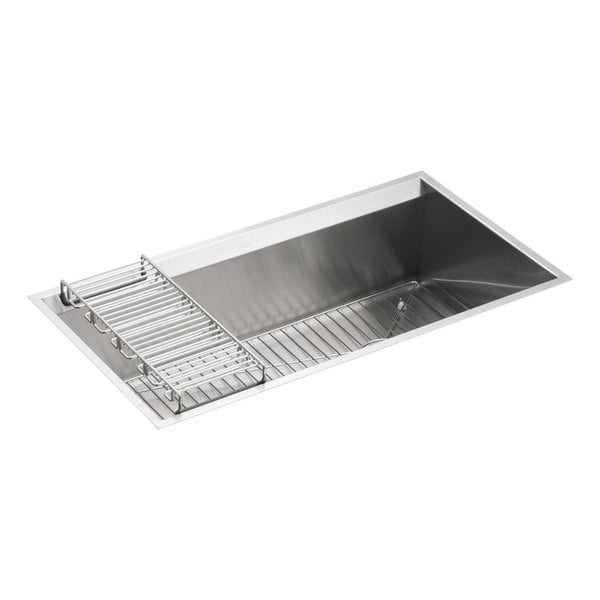 Kohler Single Basin Kitchen Sink : KOHLER K-3673-NA 8 Degree Under-Mount Large Single-Bowl Kitchen Sink ...