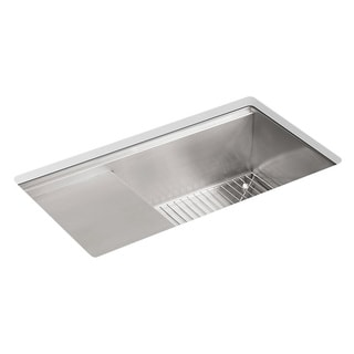 KOHLER K-3760-NA Stages 33-Inch Stainless Steel Kitchen Sink