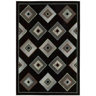 kathy ireland by Nourison Palisades Black Rug (3'9 x 5'9)