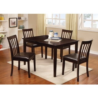 Furniture of America Laguna 5-piece Modern Espresso Dining Set