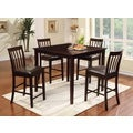 Laguna Espresso Modern Counter-height 5-piece Dining Set