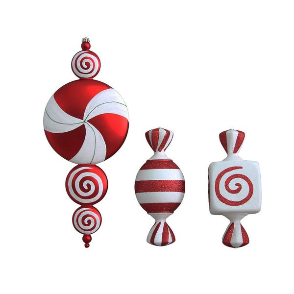 Candy Ornament Set of 3