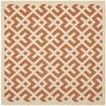 Safavieh Indoor/ Outdoor Courtyard Terracotta/ Bone Area Rug (4' Square)