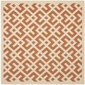 Safavieh Indoor/ Outdoor Courtyard Terracotta/ Bone Area Rug (5'3 Square)