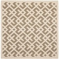 Safavieh Indoor/ Outdoor Courtyard Brown/ Bone Polypropylene Rug (5'3 Square)