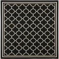 Safavieh Indoor/ Outdoor Courtyard Black/ Beige Rug (4' Square)