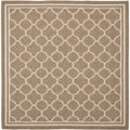 Safavieh Courtyard Brown/ Bone Polypropylene Indoor/ Outdoor Rug (4' Square)
