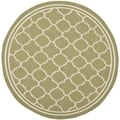 Safavieh Indoor/ Outdoor Courtyard Green/ Beige Rug (4' Round)