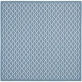 Safavieh Indoor/ Outdoor Courtyard Trellis-pattern Blue/ Beige Rug (4' Square)