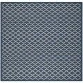 Safavieh Machine-made Indoor/ Outdoor Courtyard Navy/ Beige Rug (5'3 Square)