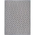 Safavieh Indoor/ Outdoor Courtyard Anthracite/ Beige Area Rug (4' x 5'7)