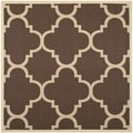 Safavieh Indoor/ Outdoor Courtyard Dark Brown Rug (4' Square)