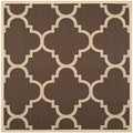 Safavieh Courtyard Dark Brown Indoor/ Outdoor Area Rug (5'3 Square)