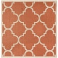 Safavieh Indoor/ Outdoor Courtyard Terracotta Rug (5'3 Square)