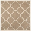 Safavieh Indoor/ Outdoor Courtyard Brown Rug (4' Square)