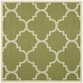 Safavieh Indoor/ Outdoor Courtyard Green/ Beige Polypropylene Rug (5'3 Square)