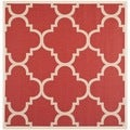 Safavieh Indoor/ Outdoor Courtyard Red Polypropylene Rug (5'3 Square)