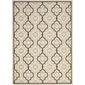 Safavieh Beige/ Black Indoor/ Outdoor Courtyard Area Rug (9' x 12')