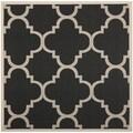 Safavieh Indoor/ Outdoor Courtyard Trellis-pattern Black/ Beige Rug (5'3'' Square)