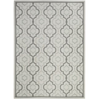 Safavieh Indoor/ Outdoor Courtyard Light Grey/ Anthracite Rug (9' x 12')