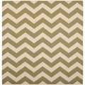 Safavieh Indoor/ Outdoor Courtyard Green/ Beige Rug (4' Square)