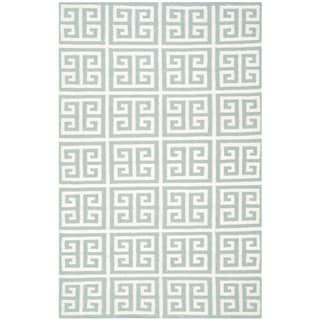 Safavieh Blue Handwoven Moroccan Reversible Dhurrie Wool Area Rug (5' x 8')
