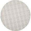 Safavieh Grey/ Ivory Handwoven Moroccan Reversible Dhurrie Contemporary Wool/ Banana Silk Rug (7' Round)