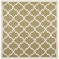 Safavieh Contemporary Indoor/ Outdoor Courtyard Green/ Beige Rug (4' Square)