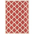 Safavieh Indoor/ Outdoor Courtyard Red/ Bone Rug (8' x 11')
