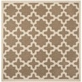 Safavieh Indoor/ Outdoor Courtyard Brown/ Bone Rug (4' Square)