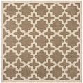 Safavieh Indoor/ Outdoor Courtyard Brown/ Bone Area Rug (5'3 Square)