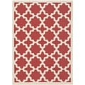 Safavieh Indoor/ Outdoor Courtyard Red/ Bone Area Rug (9' x 12')