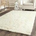 Safavieh Handmade Flokati Ivory Wool Rug (8' Square)
