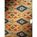 Safavieh Indoor/ Outdoor Four Seasons Natural/ Blue Rug (6' x 9')