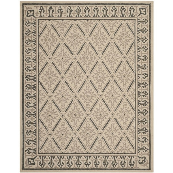 Safavieh Indoor/ Outdoor Four Seasons Beige/ Slate Rug (7'6 x 9'6)