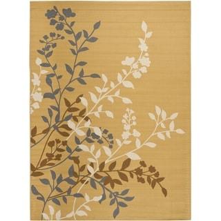 Safavieh Indoor/ Outdoor Hampton Camel/ Ivory Rug (8' x 11')