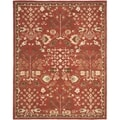 Safavieh Handmade Heritage Red/ Green Wool Rug (9' x 12')