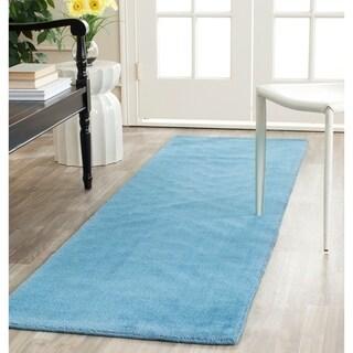 Safavieh Hand-loomed Himalaya Blue Wool Rug (2'3 x 6')